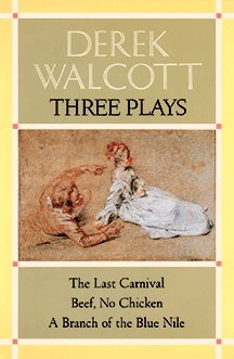 cover of Derek Walcott Three Plays designed by Claudia Carlson
