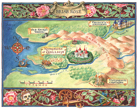 map by Claudia Carlson for Briar Rose fairy tale