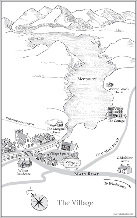map by Claudia Carlson for historical romance