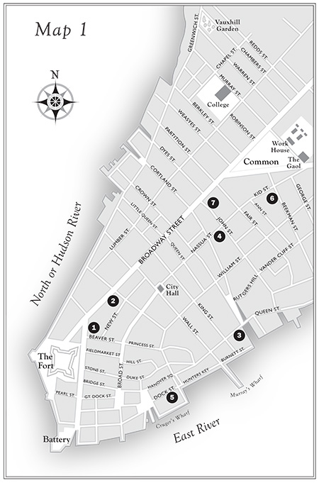 map by Claudia Carlson for histroical maps of Manhattan's theatre district